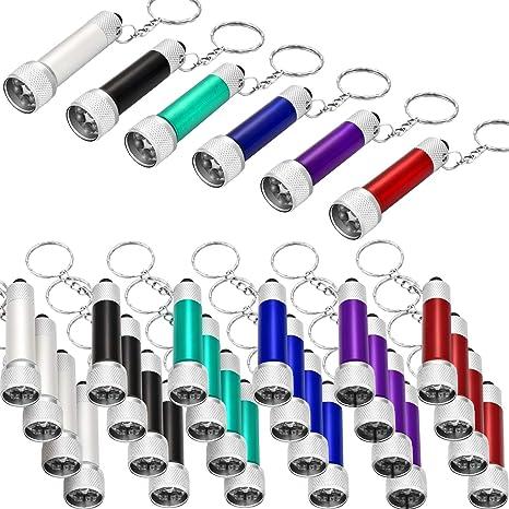 Amazon.com: 30 piezas mini linterna LED llavero portátil 5 ...