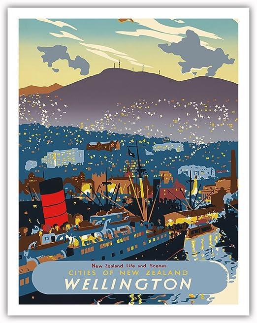 Along the Malibu California Kerne Erickson Vintage Style Travel Poster Print