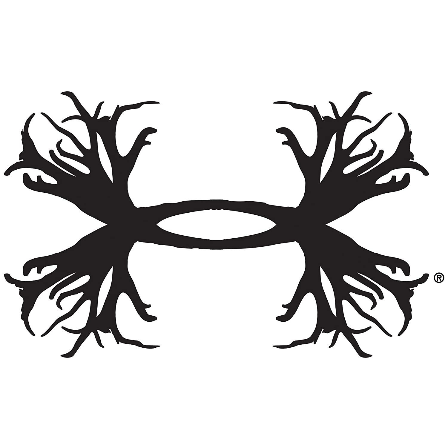 56eb338ae Amazon.com: Under Armour UA Big Antler Logo Decal - 15 Inch One Size Fits  All White: Automotive