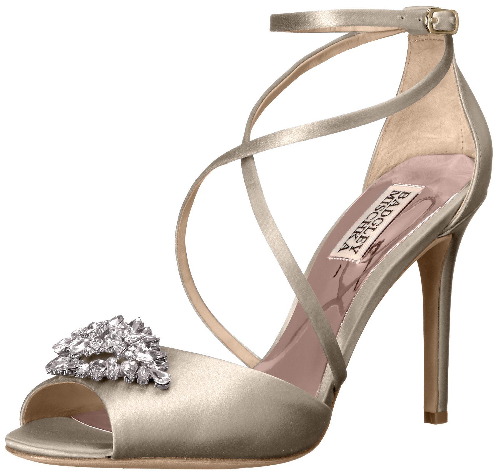 Badgley Mischka Women's Tatum Dress Sandal, Ivory, 7 M US