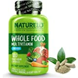 NATURELO Whole Food Multivitamin for Men - with Natural Vitamins, Minerals, Organic Extracts - Vegetarian - Best for…