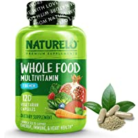 NATURELO Whole Food Multivitamin for Men - with Vitamins, Minerals, Organic Herbal Extracts - Vegetarian - for Energy…