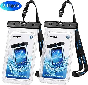 Mpow IPX8 Certifi/é Pochette /Étanche Housse Bo/îtier// Etui//Housse//Coque//Étanche Universal S6 6 3-Pack Transparent Touch Sensible et S/échage Rapide pour iPhone 7//iPhone 6//6S//6S Plus SE//5S Samsung S7