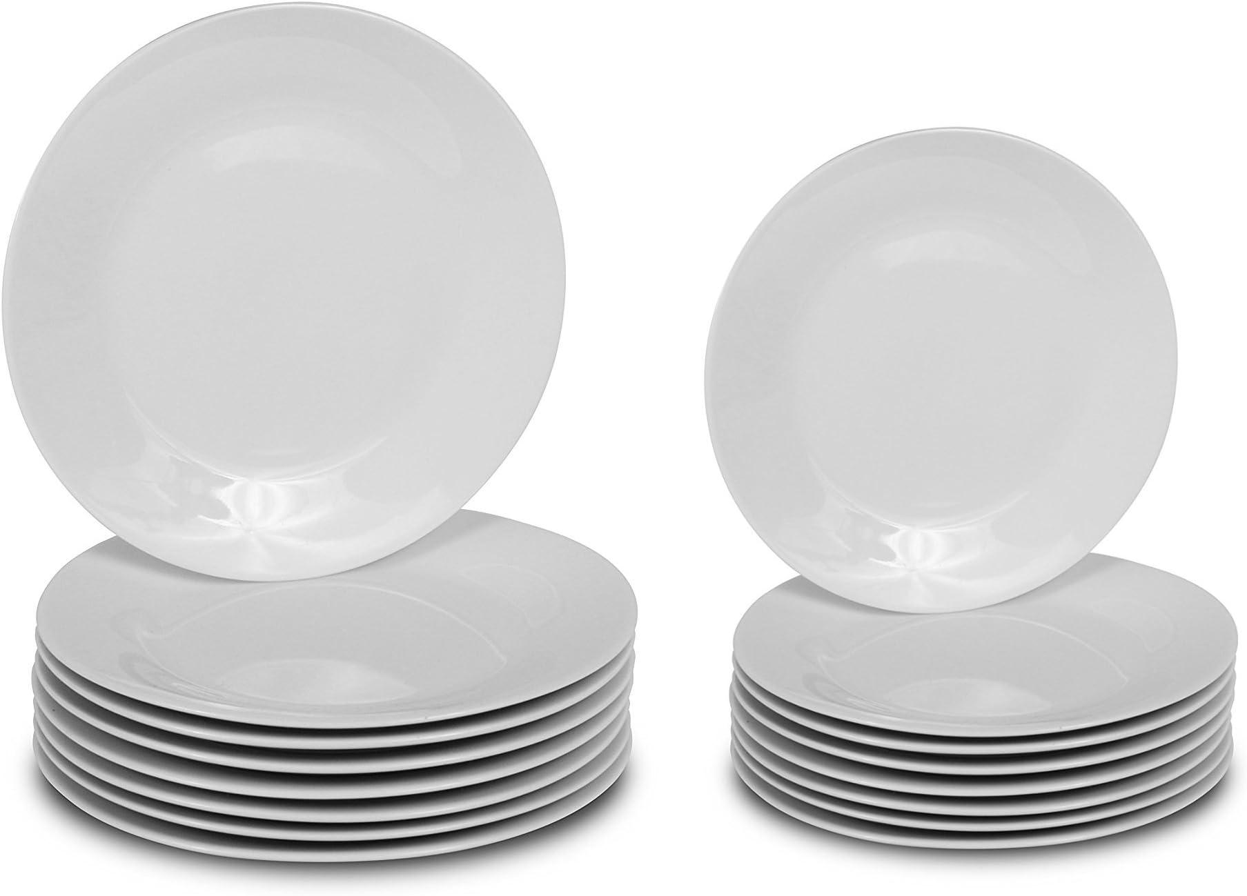 Klikel 16 Piece White Round Dinnerware Set ...  sc 1 st  Amazon.com & Amazon.com: Dinnerware Sets: Home \u0026 Kitchen