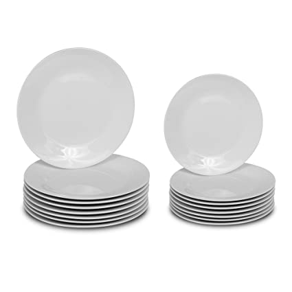 Klikel 16 Piece White Round Dinnerware Set - 8 Dinner Plates (10.5-inch)  sc 1 st  Amazon.com & Amazon.com: Klikel 16 Piece White Round Dinnerware Set - 8 Dinner ...