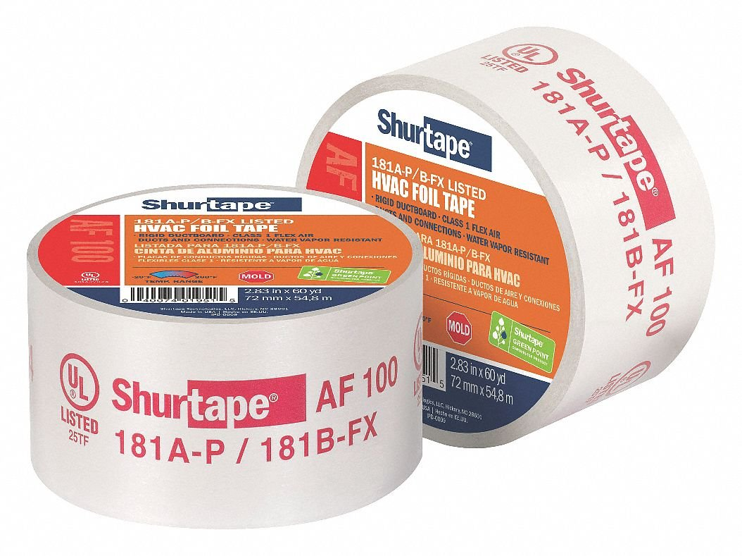 Aluminum Foil Tape, Acrylic, 4.20 mil Thick, 2-1/2'' X 60 yd., Silver, 1 EA