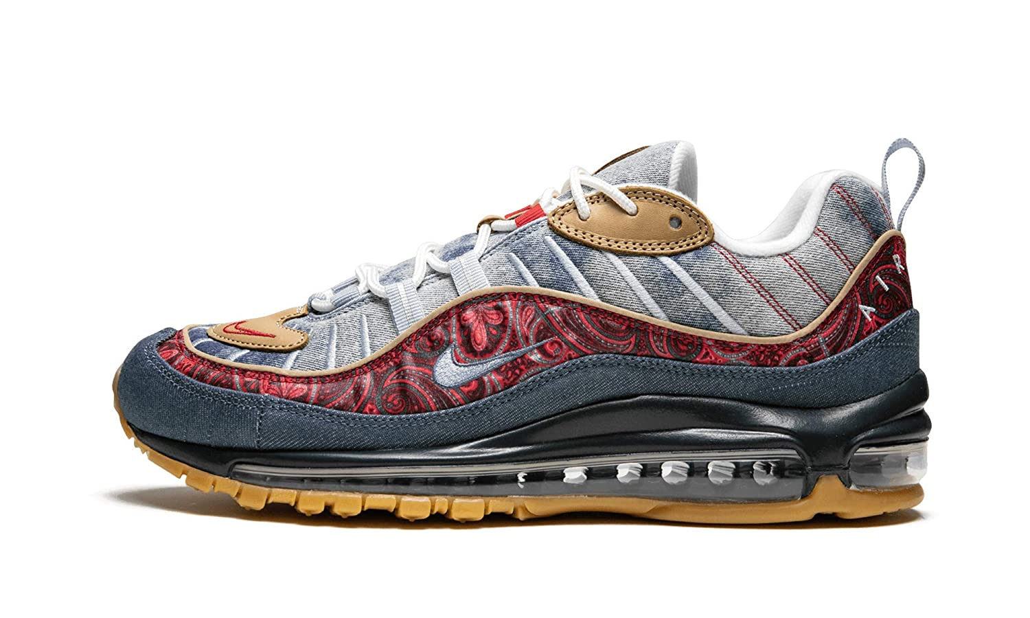 d646ed8e36 Amazon.com | Nike Air Max 98 (Lt Armory Blue/University Red, 7.5) | Shoes