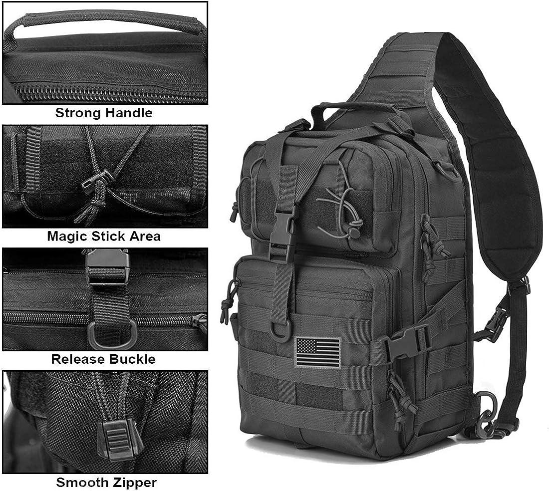 hopopower Tactical Sling Bag Pack Military Shoulder Backpack Everyday Carry Bag,20L