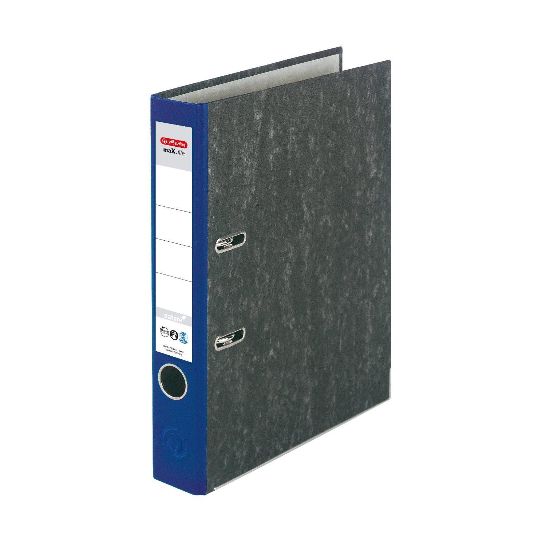 Wolkenmarmorbezug//Papier grau Farbe schwarz Herlitz 11012846 Ordner maX.file nature A4 8cm 5er Pack
