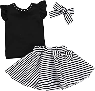 Carters Baby Girls Striped Pom Pom Shorts Set 12 Months Black//White