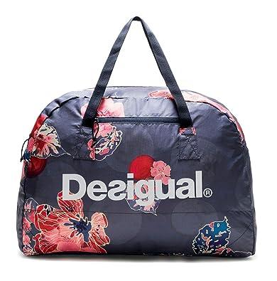 e77672772 Desigual Scarlet Bloom Packable Gym Bag Peacoat: Amazon.es: Zapatos y  complementos