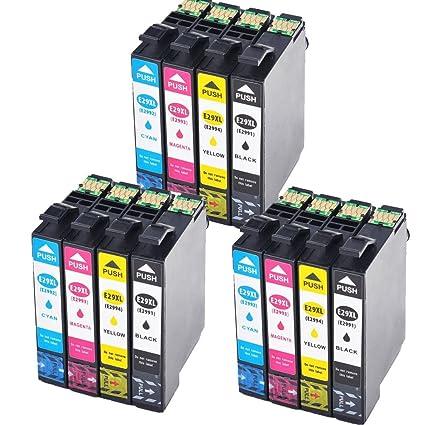 Karl Aiken 12 x Epson 29 XL Cartuchos de tinta de alta capacidad ...