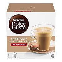 NESCAFÉ DOLCE GUSTO CORTADO ESPRESSO MACCHIATO DECAFFEINATO Caffè macchiato 3 confezioni da 16 capsule (48 capsule)