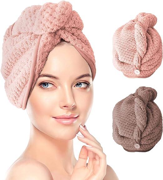 Super absorbant serviette sèche cheveux doux et confortable chaud cheveux secs Cap Microfibre