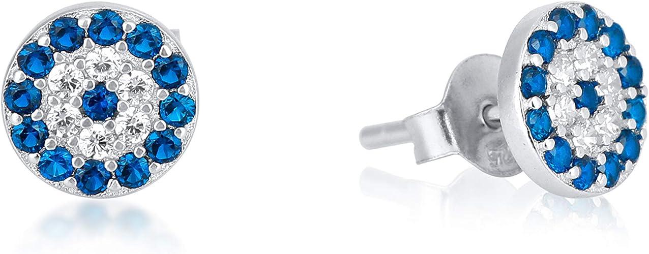 millenniumpaintingfl.com 925 Sterling Silver Eye Cubic Zirconia ...