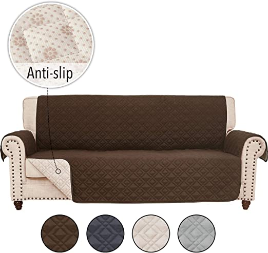 RHF Anti-Slip Sofa Cover for Leather Sofa, Couch Cover, Couch Covers for 11  Cushion Couch, Slip-Resistant Couch Cover for Leather Sofa, Sofa Covers for