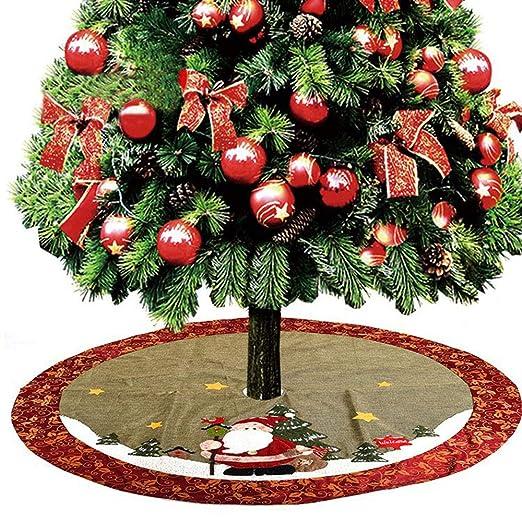WYYZSS Falda de árbol de Navidad, 48inches Adornos de Falda de ...