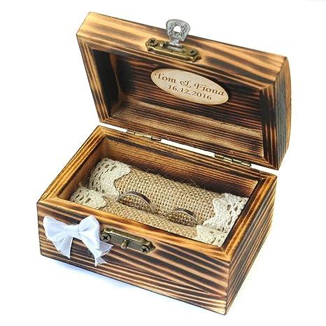 Amazon.com: Custom madera anillos – Caja, caja personalizada ...