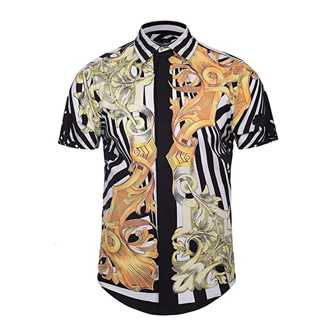 6712c45f751 Image Unavailable. Image not available for. Color  Sonjer Short Sleeve 3D  Printed Shirt Men Fashion Summer ...