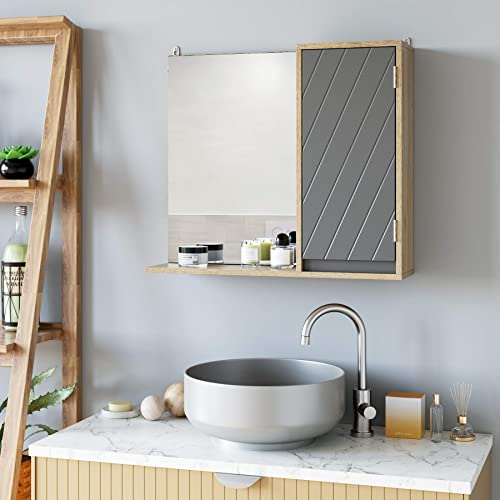 HOMECHO Bathroom Mirror Cabinet
