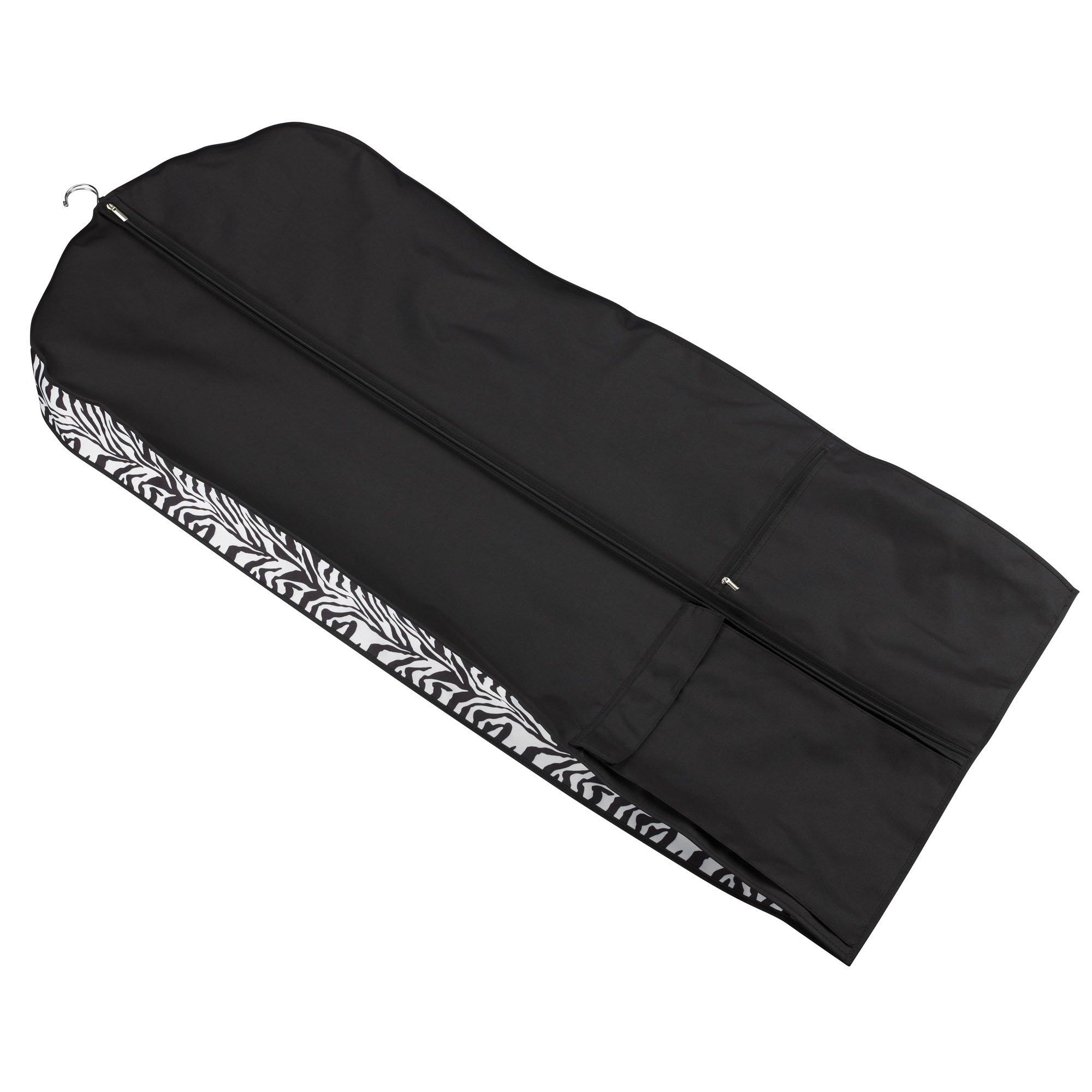 Household Essentials Garment Dress Bag, Zebra Print