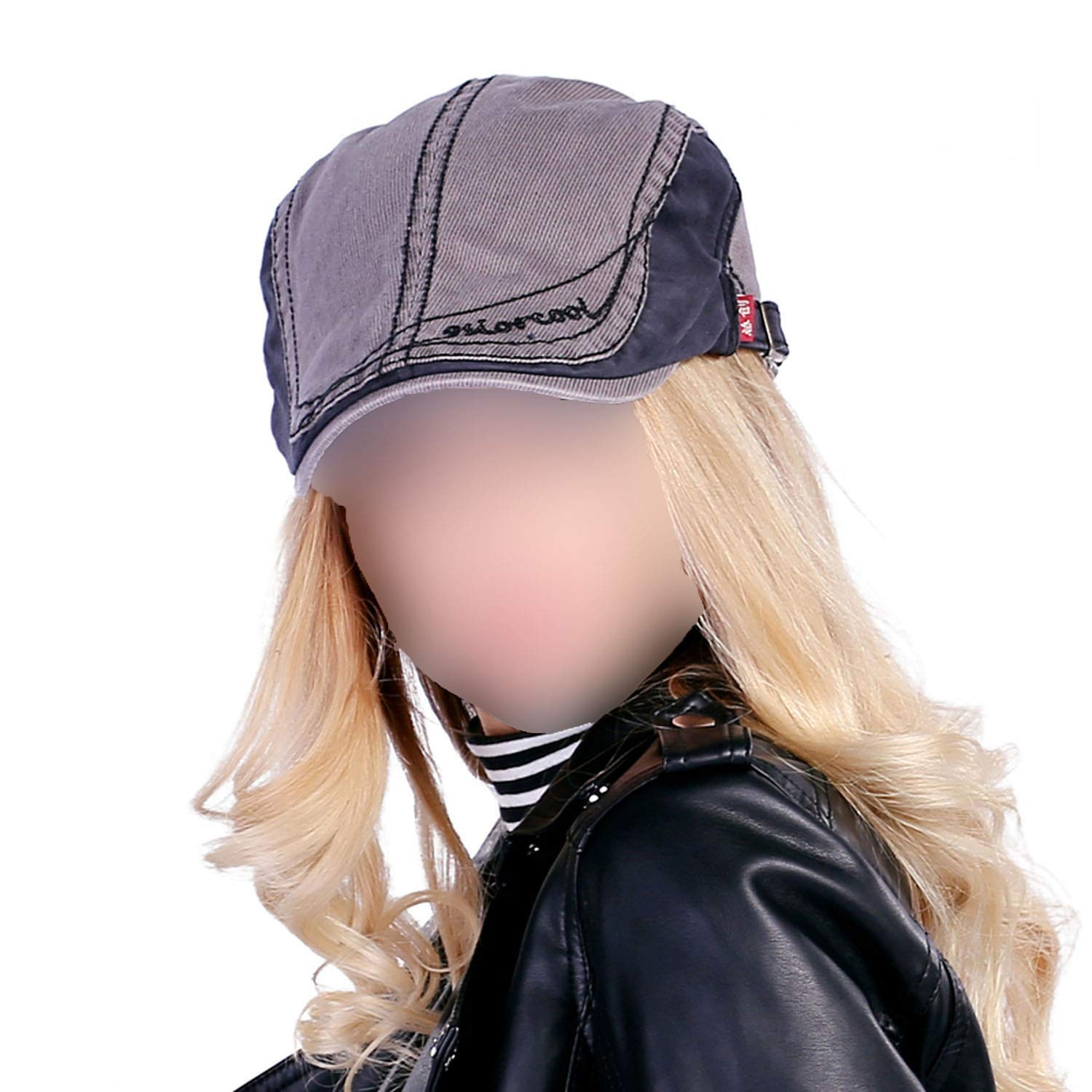 Spring and Autumn Vintage Simple Solid Unisex Solid Beret Buckle Flat Caps Leisure Hat