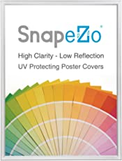 """SnapeZo Poster Frame 18x24 Inch, Silver 0.77"""" Aluminum Profile, Front-Loading Snap Frame, Wall Mounting, Slim Series"""
