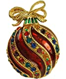 Bejeweled Christmas Holiday Fancy Ornament Pin Brooch BC1240