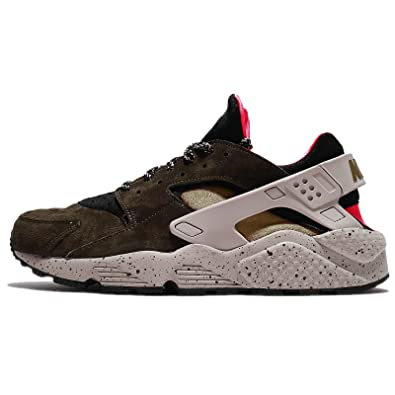 save off 87e4c 07cd1 NIKE Mens Shoes Low Sneakers 704830 010 AIR Huarache Run PRM Size 40 Green