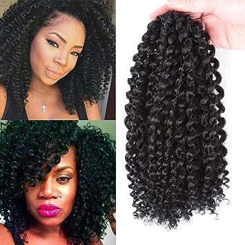 Synthetic Crochet Braids Hair Extension Marlybob Braiding Hair Crochet Kinky Curly Wavy Hair Mali Bob