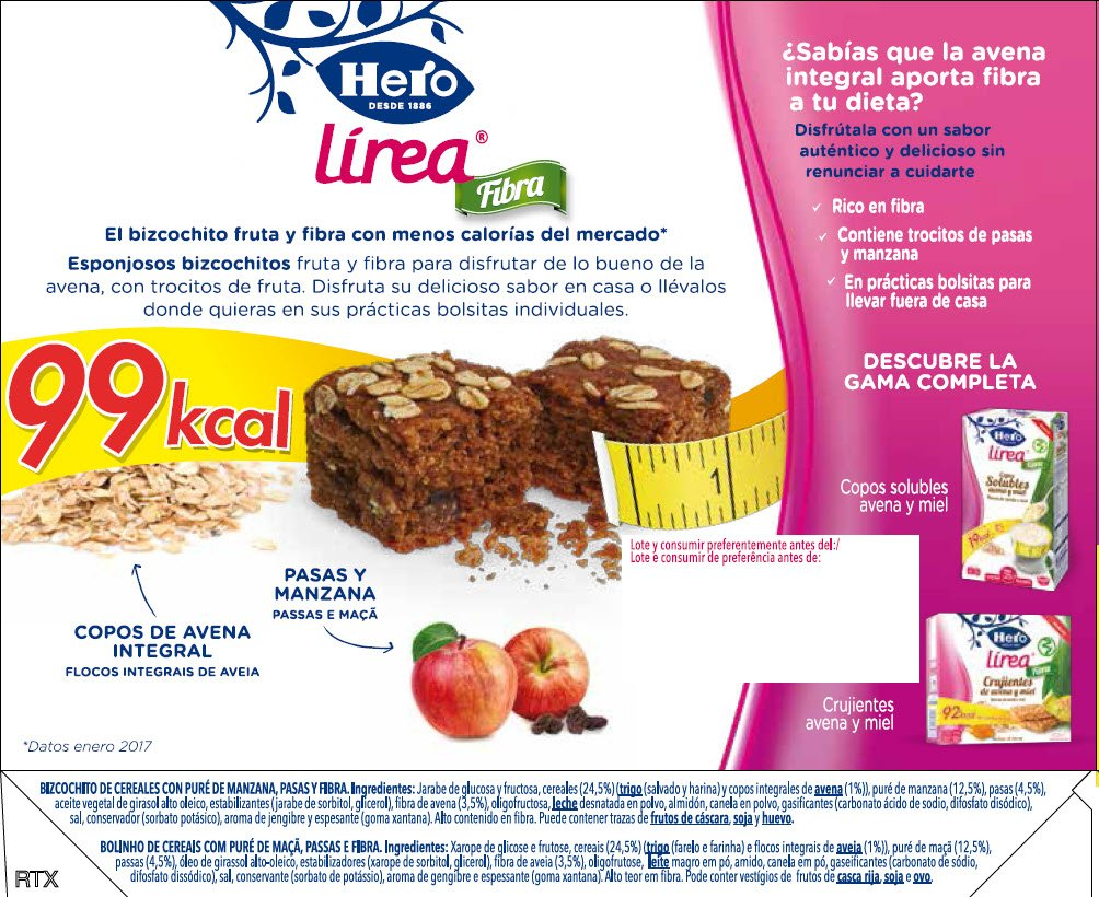 Hero Muesly Línea Bizcochito Fruta y Fibra - 6 Unidades: Amazon.es: Amazon Pantry