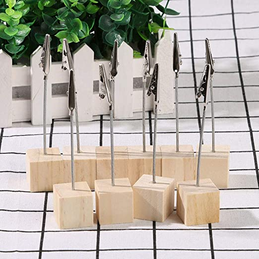 Small Cube 3 Clips Memo Clips Scrapbook Photo Clamps Stand Picture Card Holder