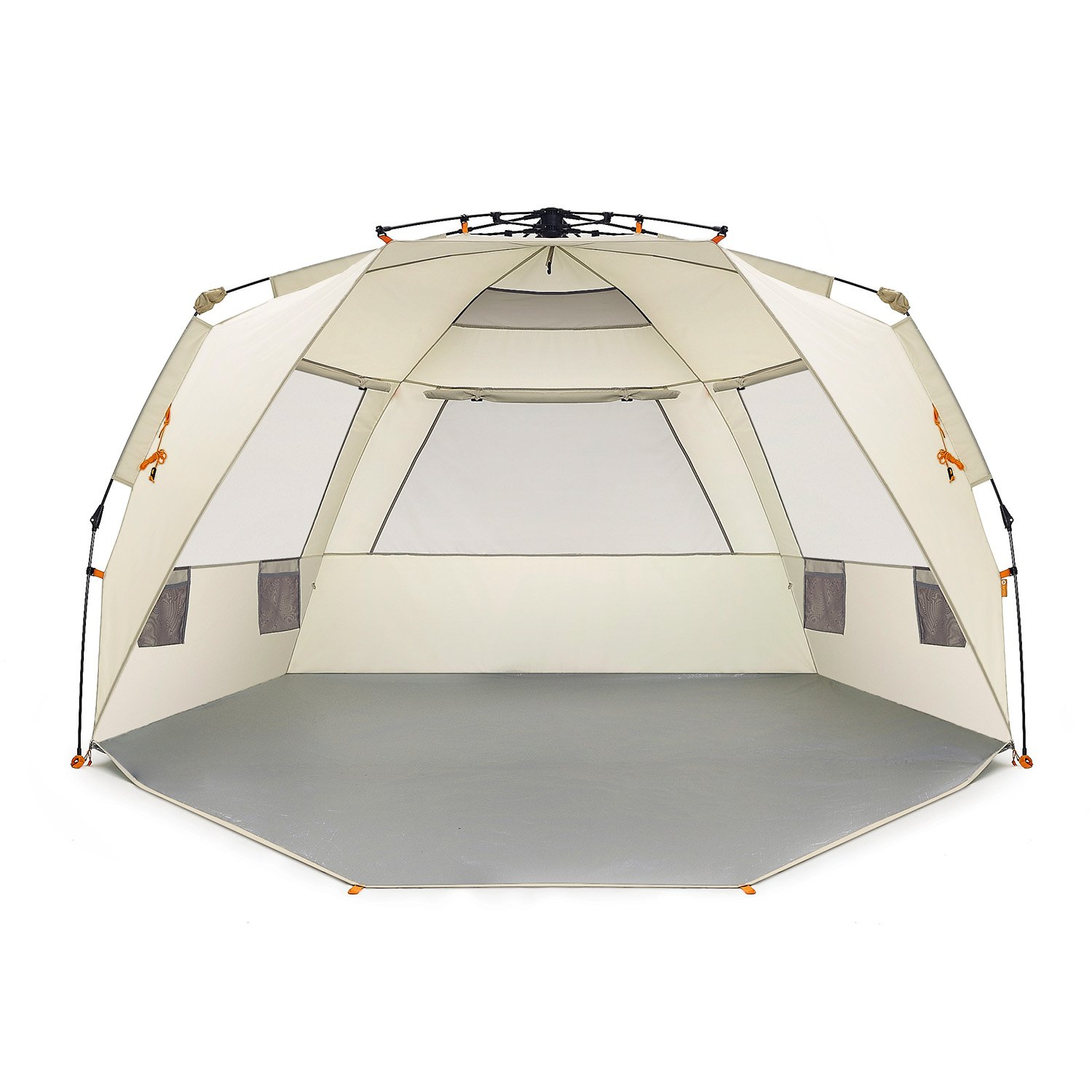 Easthills Outdoors Instant Shader Deluxe XL Easy Up 4 Person Beach Tent Sun Shelter - Extended Zippered Porch Included by Easthills Outdoors