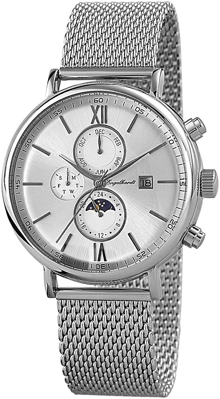 Engelhardt Herren-Armbanduhr XL Analog Automatik Edelstahl 387722528018
