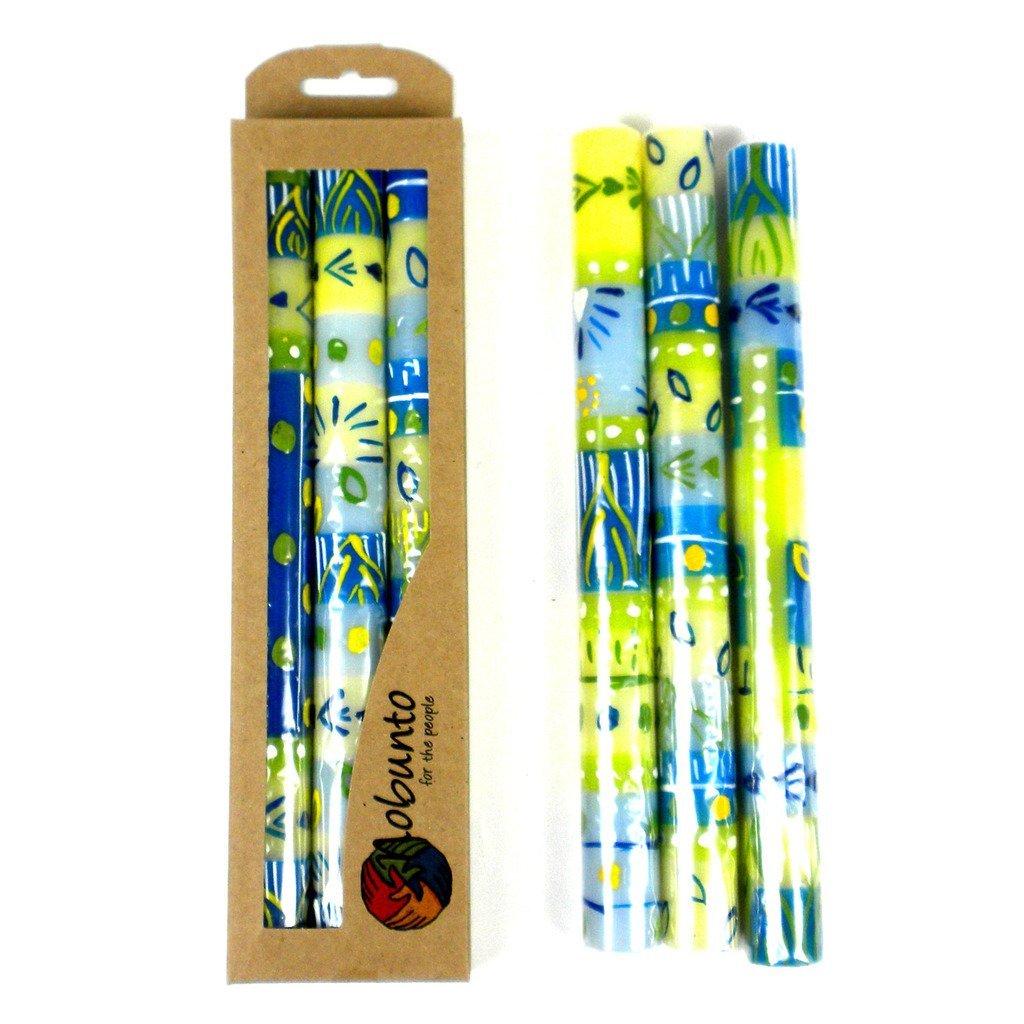 Nobunto Tall Candles - Three in Box, Fair Trade (Ihlobo Design) by Nobunto