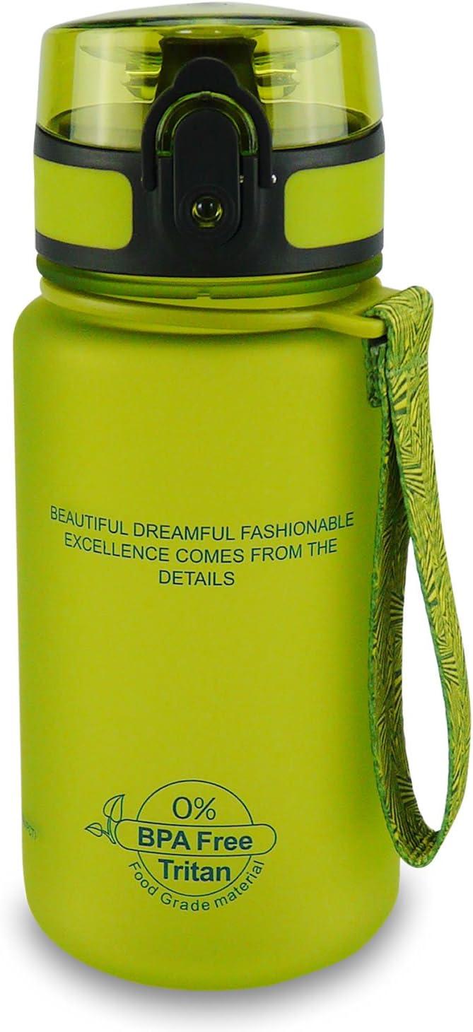 SMARDY Tritan Botella de Agua para Beber 350ml, 500ml, 650ml, 1l - de plástico sin BPA - al Aire Libre - Tapa de un Clic - fácil de Abrir - ecológica - Reutilizable