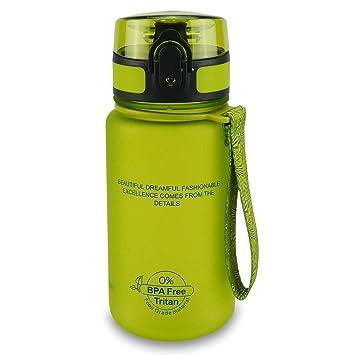 SMARDY Tritan Botella de Agua para Beber Vert - 350ml - de plástico sin BPA -