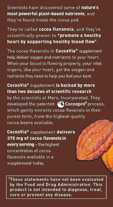 Amazon.com: Suplemento de extracto de cacao CocoaVia Daily ...