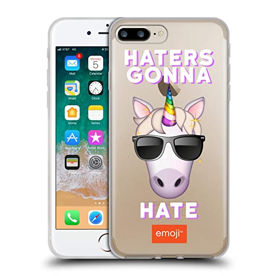 Amazon.com Official Emoji Unicorn Haters Logos Soft Gel