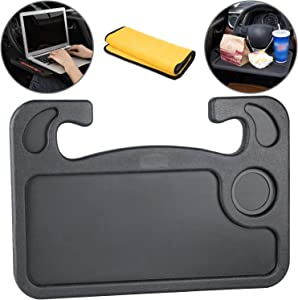 Homesprit Car Steering Wheel Desk, Laptop Or Notebook Car Travel Table, Food Eating On Steering Wheel Tray(Black)