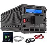 インバーター 12V 3000W インバーター DC 12V を100V 110V ACへ変換 50Hz/60Hz LCDディスプレイ及びリモコン搭載 12v 電源 災害対策 地震 防災用品 EDECOA