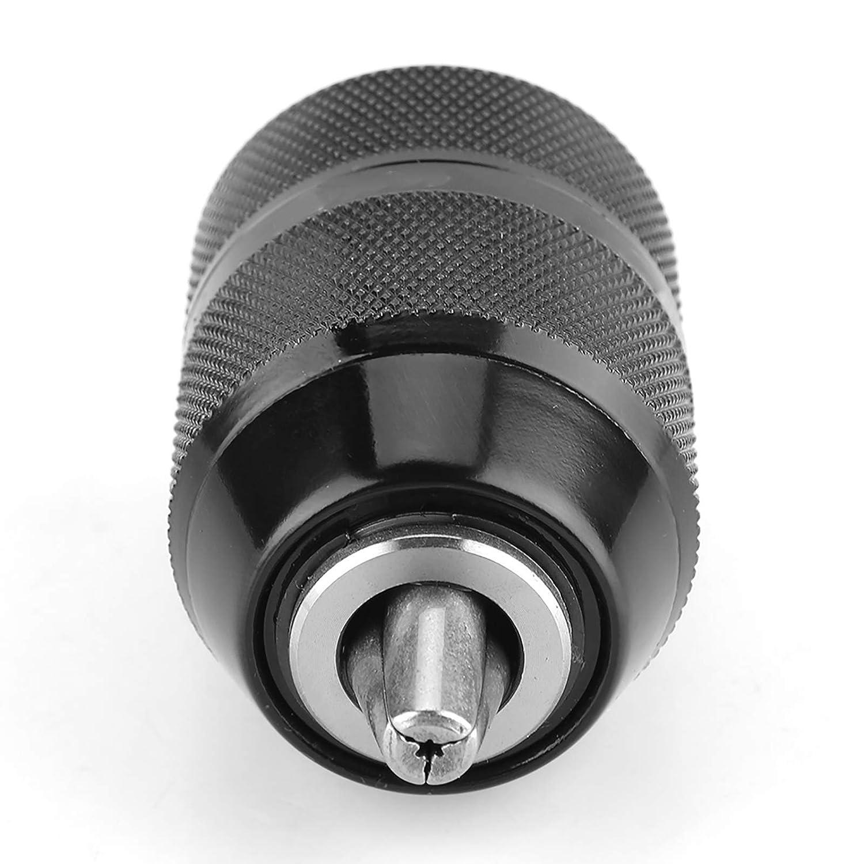 portabrocas de metal de 13 mm,//2-20UNF Portabrocas el/éctrico de autobloqueo para taladros el/éctricos de CA con potencia inferior a 700 W y varios taladros el/éctricos de CC Portabrocas sin llave