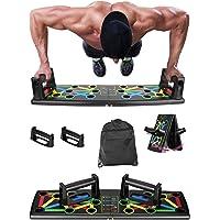 Clonic 12-in-1 opvouwbaar push-up rack board met handgreep voor spiertraining, effectieve vormen, armtrainer…