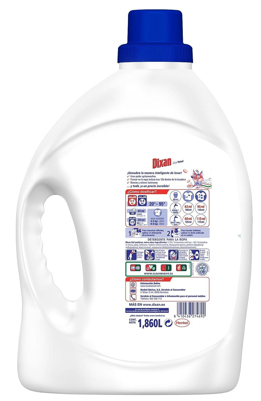 Dixan Detergente Gel Total 30 Lavados Amazon Es Alimentaci N Y  ~ Mejor Detergente Lavadora Calidad Precio