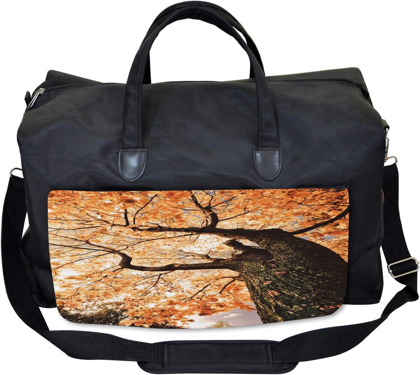 Old Tree Botany Wood Large Weekender Carry-on Ambesonne Landscape Gym Bag