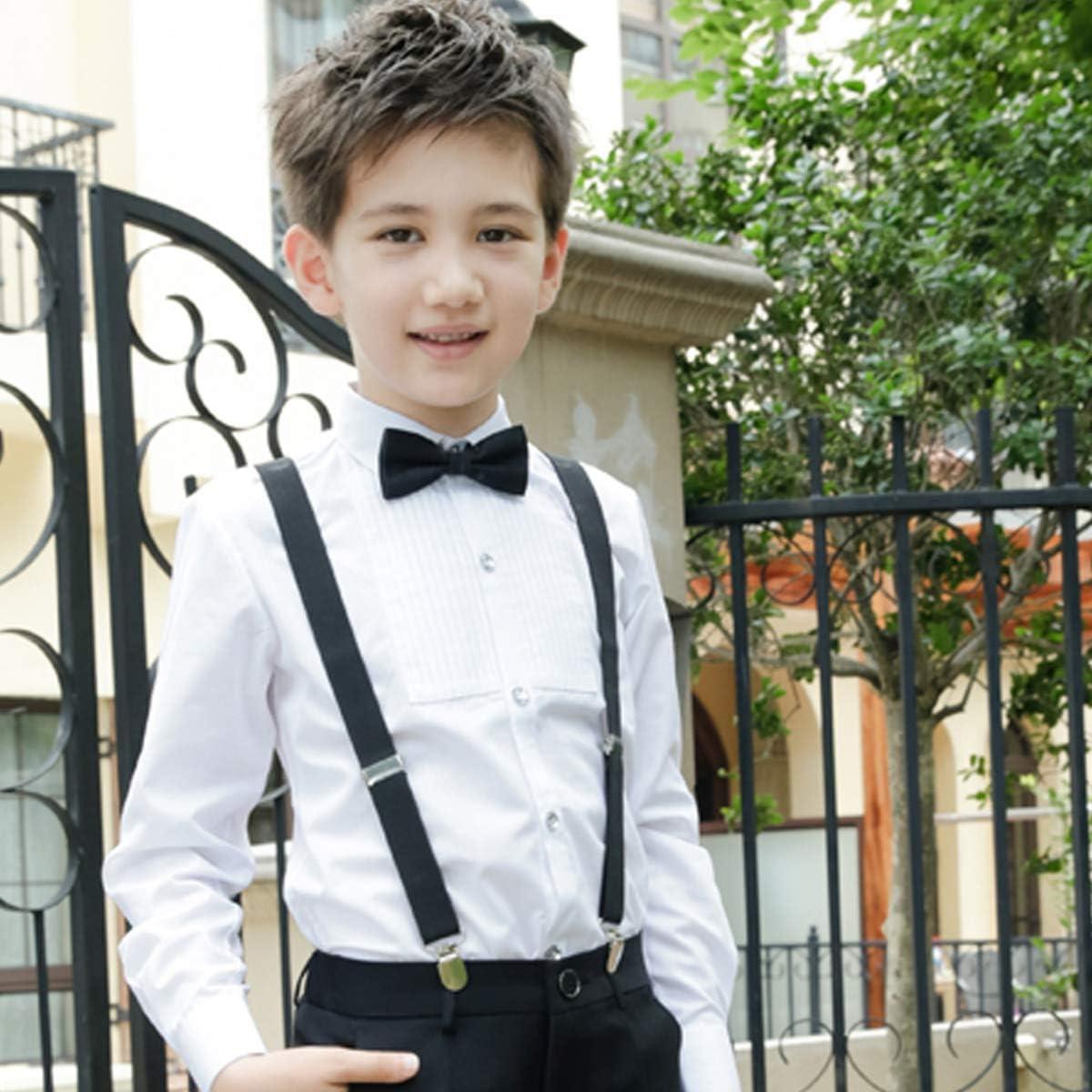 NUOBESTY Juego de corbata con tirantes de corbata negra, ropa de ...