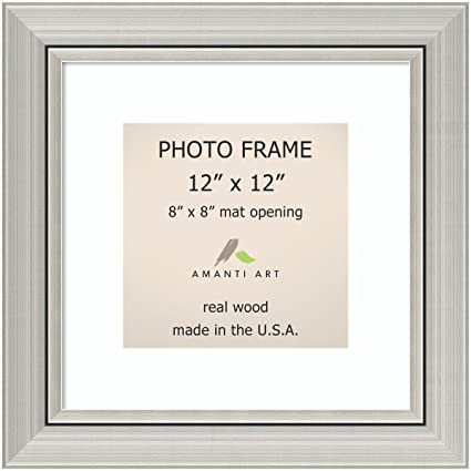 Amazon Picture Frame 12x12 Matted To 8x8 Romano Silver Wood