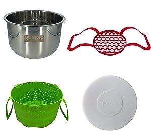 Yumvio Essential Accessories for 10 Quart Instant Pot Duo Nova Pressure Cooker | Extra-Large | 4 Piece Bundle | Dishwasher Safe