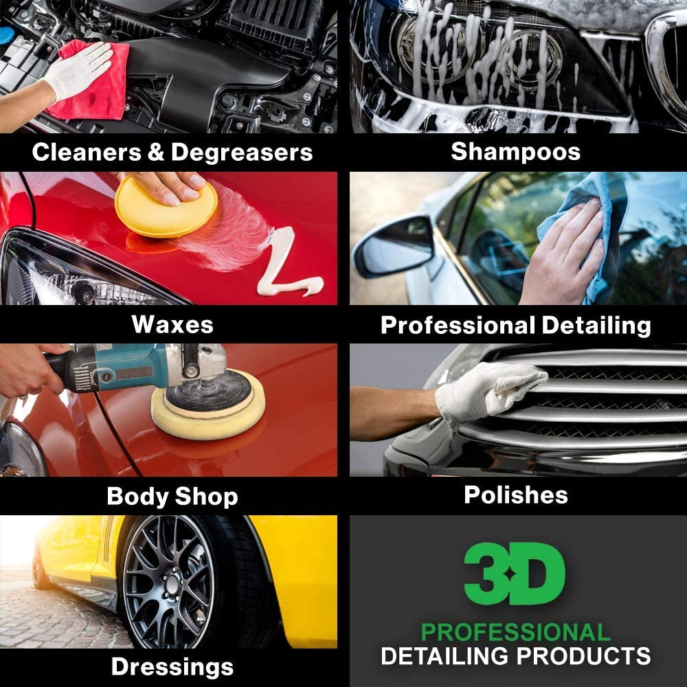 3D Universal Protectant Tire Dressing - 1 Gallon | Long Lasting, High Shine, Wipe On Tire Gloss | Non-Greasy Water Based Protectant | Made in USA | All Natural | No Harmful Chemicals: Automotive