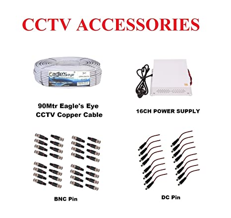 Buy Selecore Products Accessories Pack For 16CH CCTV Security
